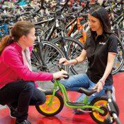 Beratung bei Kinderfahrrädern und Laufrädern